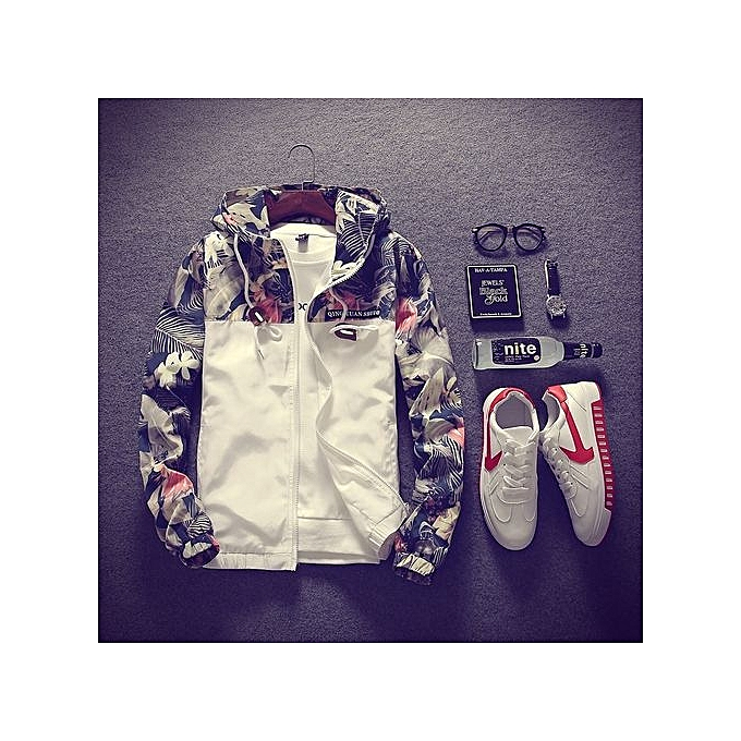 e92caf75f60 ... Coat Men s Hooded Jackets Plus Size-white · Men s New Hot Sale  Floral  Bomber Jacket Men Hip Hop Slim Fit Flowers Pilot Bomber