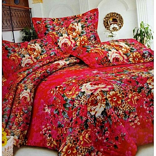Bedsheet With 2 Or 4 Pillow Cases