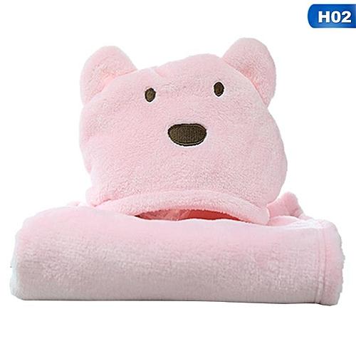 Newborn Infant Baby Hooded Blanket Bath Towel Kids Animal Pattern Bathrobe