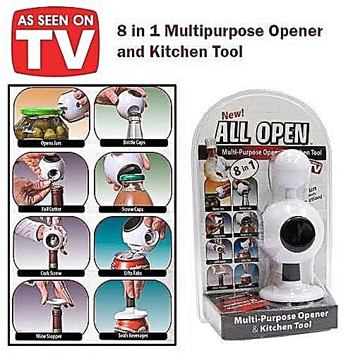 Can Opener Multipurpose Opener Kitchen Tools 8 In1