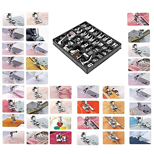 45/35/32pcs/set Multifunctional Mini Sewing Machine Foot Presser Hem Crimping Feet Braiding Blind Stitch Darning Accessories