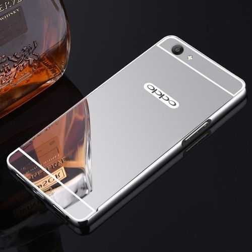 Generic High Quanlity Mirror Metal Aluminum Case + Ultra Slim Acrylic Back Cover For OPPO F1S