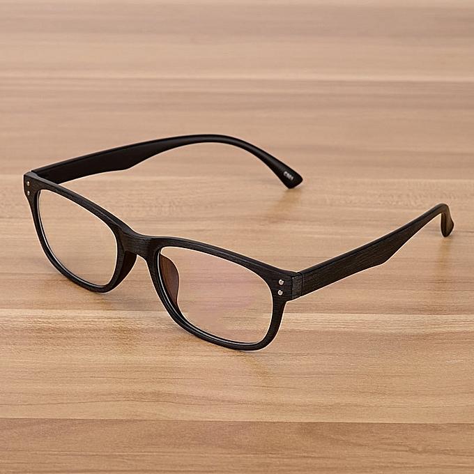 11d40405b97 Korean Fashion Eyeglasses Optical Frames Clear Lens Fake Glasses Wood-like Vintage  Eyewear Spectacle Frames