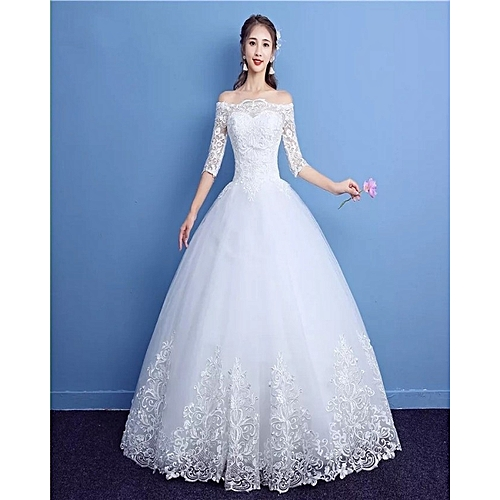 Buy Generic White Off Shoulder Ball Wedding Gown @ Best Price Online ...
