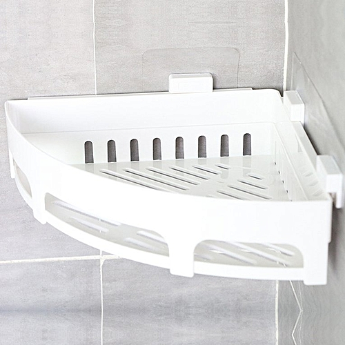 1PCS Kitchen Bathroom Shelf Wall Rack With 2 Suckers Plastic Shower