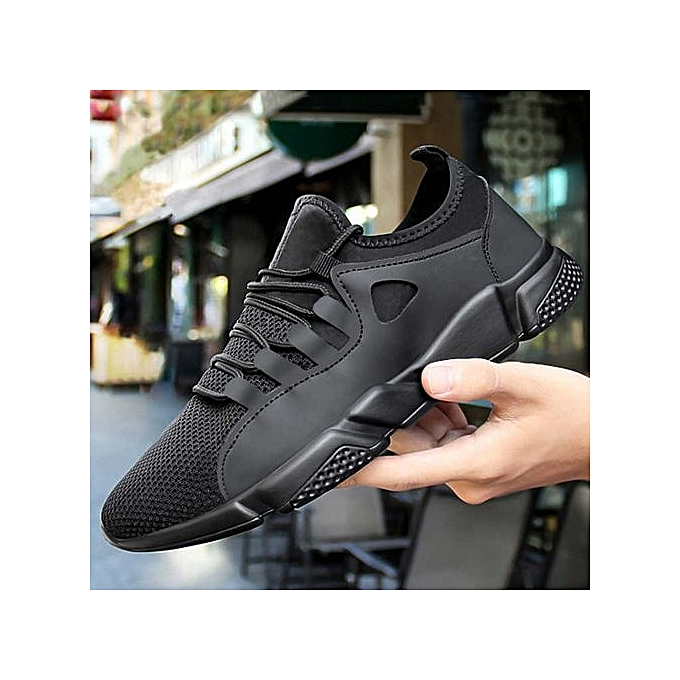 1cc7e7beb9f27 Running Shoes Men New Style Breathable Sneakers Men Light Sport Outdoor  Shoes- Black