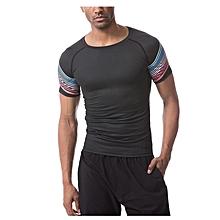 f855ec88648f9 Men  039 s Quick Dry Short Sleeve T-Shirt Running Fitness Shirts Workout