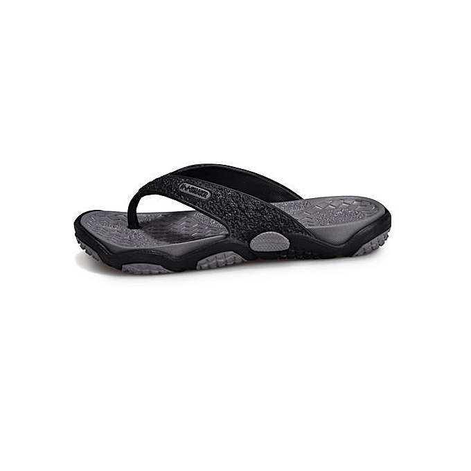 cb7124bcebd8 Fashion Man s Flat Flip Flops Fashion Casual Breathable Comfortable Shoes  Slides-black