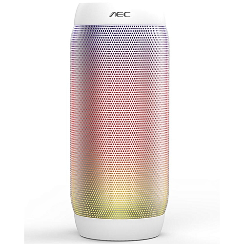 AEC BQ-615 - Bluetooth Speaker HIFI PRO LED Lights NFC Mic FM Radio TF Card  Slot - White d09dd167b84