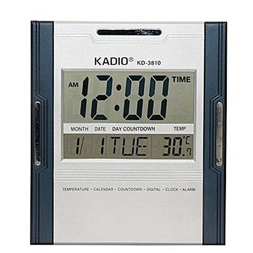 Digital Wall Clock With Temperature Reader - Square