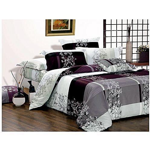 Bedsheet Duvet Set With Four Pillowcases (brown)
