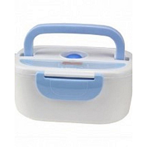 Multi-functional Electric Food Warmer/Lunch Box - White/Blue