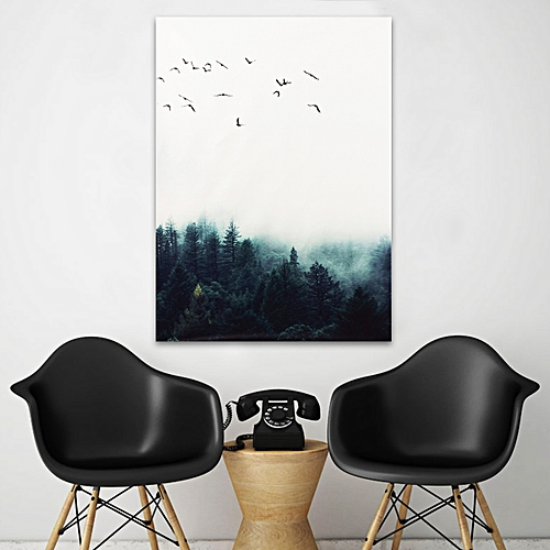 15*20cm Forest Landscape Wall Art Canvas Poster Print Nordic Style Painting Home Decor-Multi