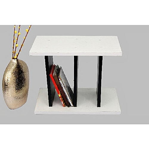 Side Stool With Magazine Rack-(DELIVERY WITHIN LAGOS ONLY)