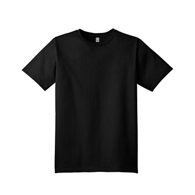 F2D Men s Plain Black T-shirt  07a8882eaf6