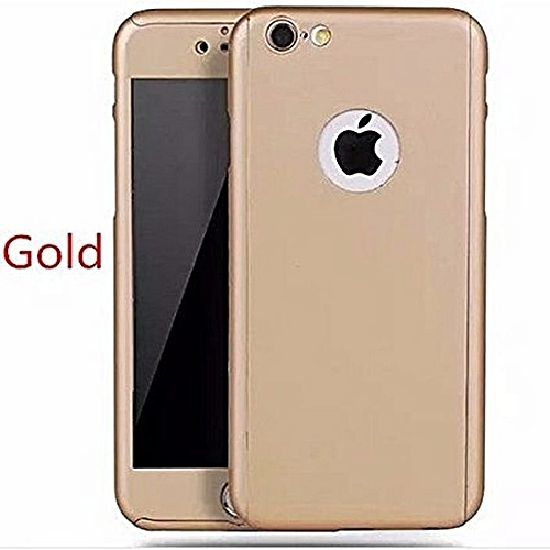 Iphone 6 PLUS /6s PLUS CAse With Tampered Glass - Gold