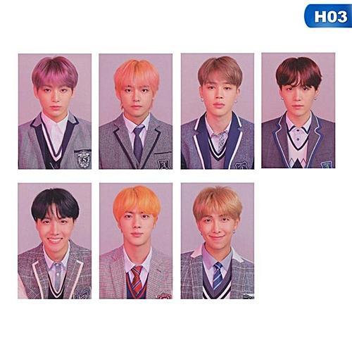 7pcs/set K-POP BTS Bangtan Boys Love Yourself Answer Album Photo Card Hip Hop Self Made Paper Cards