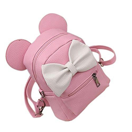 66f0143e0cae Fashion Fashion Fashion School Backpack Set Canvas Girls School Bags Pink