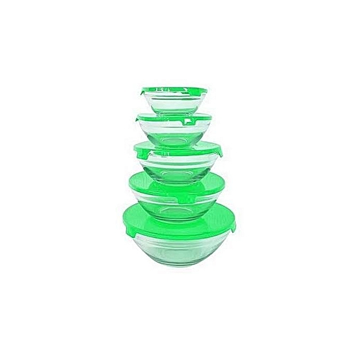 5Pc Glass Bowl With Lid TP 5002
