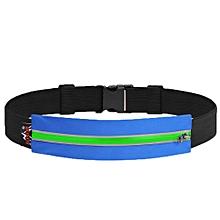 Running Waist Bag Shockproof Sports Bag Running Belt Reflective Waist Belt Multifuntional Expandable Pocket Phone Case(green Blue) for sale  Nigeria