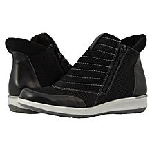 0305cd076d6272 Walking Cradles Ollie - Black Nubuck Leather Mesh