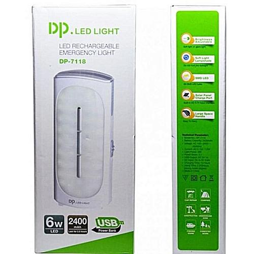 Mini Cute Usb DP.Led Light Rechargeable Lamp-White