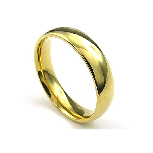 1bda0fdd7ff8 Fashion 18 Karat Gold Plated Wedding Ring- Unisex   Jumia.com.ng