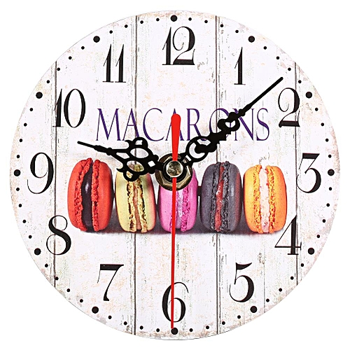 Artistic Wooden European Style Round Wall Clock Decoration #6