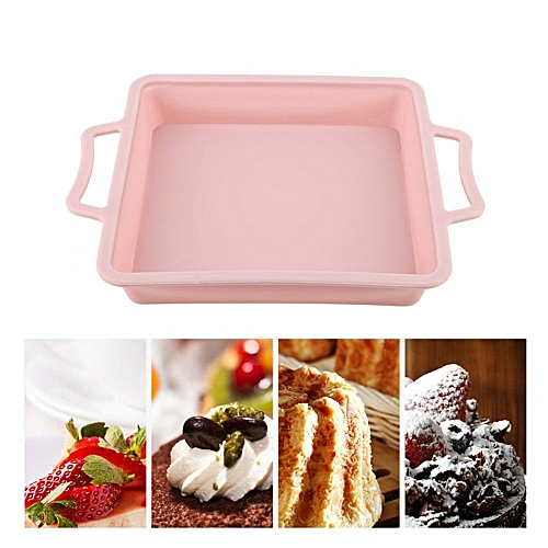 28*28*4cm Square Shape 3D Silicone Cake Mold For Bakeware