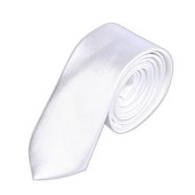 b51c5682dacb Fohting Casual Slim Plain Mens Solid Skinny Neck Party Wedding Tie Necktie  WH -White