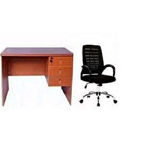 4 Feet Office Desk + Mesh Swivel Chair (delivered To Customers In Lagos, Anambra And Asaba)