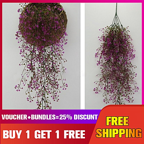 Mrosaa Artificial Plant Flower Hang Flowers Living Room Party Home Decoration