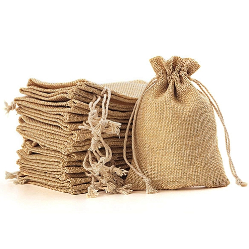 100piece Burlap Bags With Drawstring Gift Bags For Wedding Party ,Arts & Crafts Projects, Presents, Snacks & Jewelry,Christmas(10x14cm)
