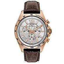 e20e0e516fd0 GS90073 06 Men  039 s Les Originales Swiss Made Quartz Chronograph Brown  Leather