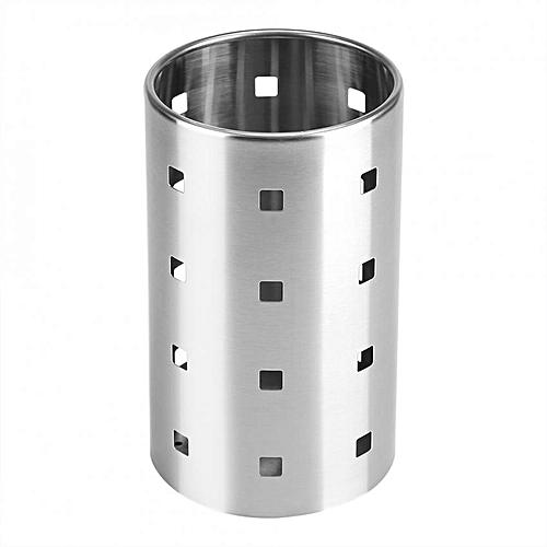 SSGP Stainless Steel Kitchen Cutlery Holder Chopsticks Tableware Storage Rack Organizer (L)