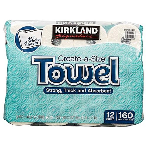 Kirkland Signature Kitchen Towel Carton (12 Rolls)