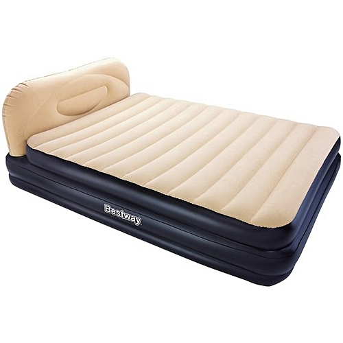 Comfort Quest Soft Back Elevated Queen Electric Airbed - Built In Pump