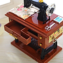 Seioure Vintage Music Box Mini Sewing Machine Style Mechanical Birthday Gift Table Decor As Shown for sale  Nigeria