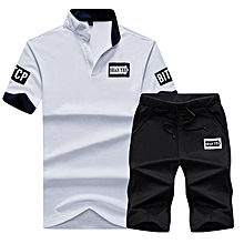 54e2a6c17af0c1 2 Piece Set Fashion Men  039 s Short Sleeve T-Shirt Set