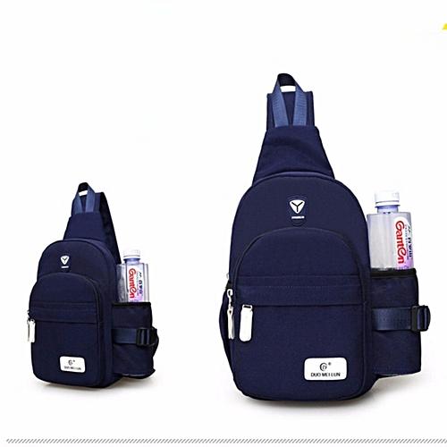 cdfa5b5c45 Hush Gecko Korean Men Women Chest Sling Shoulder Backpack Chest Pack Canvas  Backpack Outdoor Crossbody Ride Luggage Waterproof Bag TRAVEL KETTLE Bag(Dark  ...