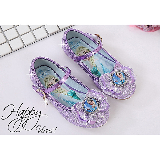 46bb35b8d47 Fashion Kids Girls Princess Spring Elsa Sandals Party Elsa Shoes ...
