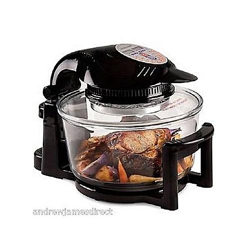 Hinged Digital Halogen Oven - Black