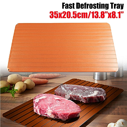Fast Rapid Thawing Defrosting Tray Kitchen Safe Defrost Thaw Frozen Meat Food