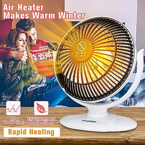 Mini Portable Silent Air Heater Quartz Fast Heating Room Office Blower Upright