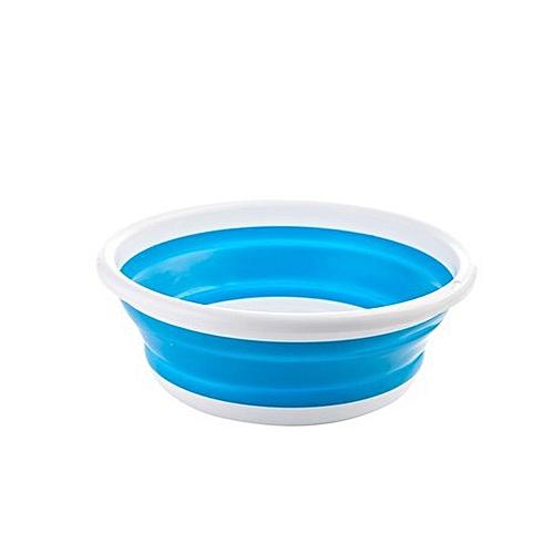 Portable Outdoor Camping Travel Plastic Wash Bucket Folding Basin S