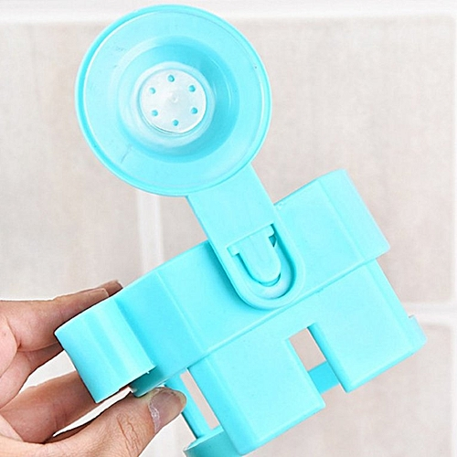 Wall-Mounted Suction Cup Hair Dryer Holder Comb Rack Stand Set Bathroom