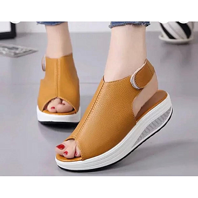 026635a33 Latest Fish Mouth Ladies Sandals For Fashion Women With Thick-Bottom High  Heel Shoes- ...