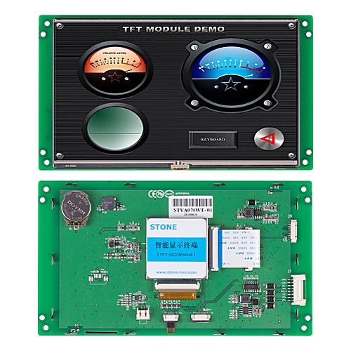 """Embedded 7.0""""LCD Module With Serial Interface+Program"""