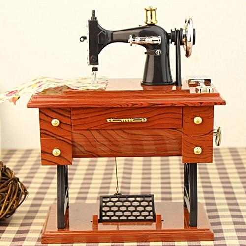 Retro Sewing Machine Musical Box Treadle Vintage Clockwork Style Home Gift Decor