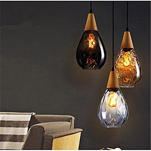 16cm Industrial Vintage Loft Glass Pendant Lamp Restaurant Chandelier L132HC